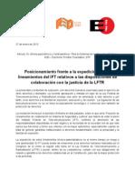 Posicionamiento contra IFT