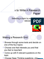 how to write a research paper ecology 2014-2015