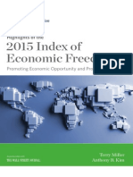 Highlights of 2015 Economic freedom Index