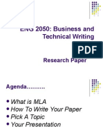 MLA and How to Write Your Paper PowerPoint Slides - Spring 2013 Mini II(1)