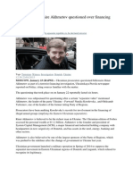 Ukrainian Billionaire Akhmetov Questioned Over Financing Terrorism