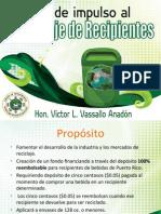PP - Ley de Impulso Al Reciclaje de Recipientes