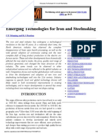 Emerging Technologies for Iron and Steelmaking