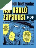Así Habló Zaratustra. El Manga