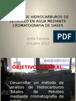 ANALISIS DE HIDROCARBUROS DE PETROLEO EN AGUAS MEDIANTE CROMATOGRAFIA DE GASES.pptx