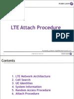 LTE Attach Procedure