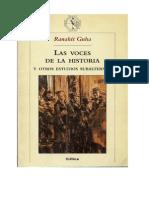 Las Voces de La Historia y Otros Estudios Subalternos