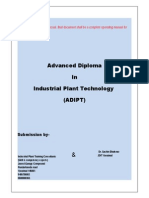 Advanced Diploma in Industrial Plant Technology