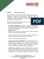 Informe de Gestión Secreatría de Gobierno 2014