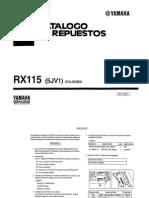 Catalogo de Repuestos RX-115 yamaha