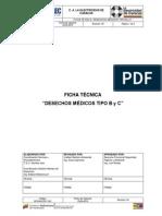 EDC-GFSHA-FT-009 Desechos Médicos Tipo B y C