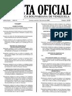 Gaceta oficial Nº 40.589 del 27/01/2015