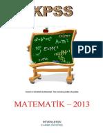 MATEMATIK - özet-2013