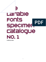 Manuale - Larabie Fonts Guide