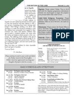 11 January 2015 - Bulletin #164