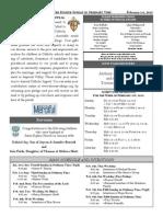 Bulletin for  1 February 2015