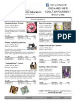 Adult Enrichment Flyer Spring 2015