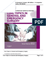 A Companion to Special Surgical Practice - Core Topics in General and Emergency Surgery ( SP Brow