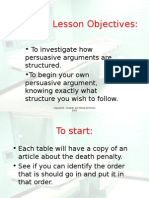 Death Penalty Lesson 4