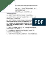 Requisitos Para Proceso de Prescripcion Adquisitiva