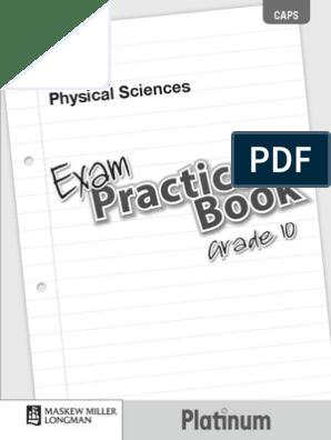 Platinum Physical Sciences Grade 10 Exam Practice Book | Waves | Atoms