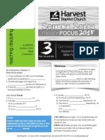 gospel focus, john 3