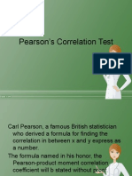 Pearson's Correlation Test