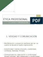 2.1 Ética y Comunicación