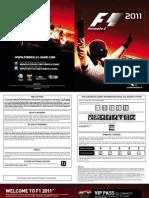 F1 2011 Manual PS3