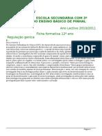 Ficha Formativa- Regulação Génica