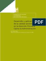 Modelos de Calidad Asistencial en Atencion Primaria