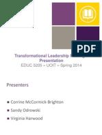 leadership parardigm presentation educ 5205 final