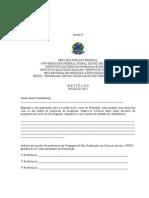 Formulario de Informacoes Do Candidato Anexo II 20153 - mestrado UFRRJ 2015