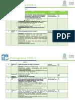 Cronograma Intensivos 2015-1 NIVEL II