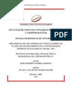 EL CONTROL INTERNO Y GESTIÓN FINANCIERA EN LAS EMPRESAS RADIALES DE LA CIUDAD DE HUARAZ EN EL AÑO 2011.