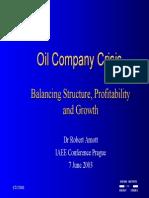 Oil Presentation3 OilCompanyCrisisBalancingStructureProfitabilityandGrowth RArnott 2003