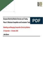 OIl Presentation6 EuropeanElectricityMarketsStructureandTradingII JBower 2003