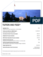 Tuition and Fees 2014-2015