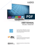 Vizio TV Model M422i-B1 User Manual