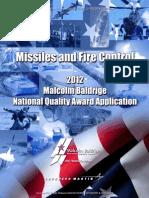 2012 Lockheed Martin MFC Application Summary