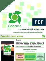 Apresentação Geociclo - papel da biotecnologia no reaproveitamento do lixo
