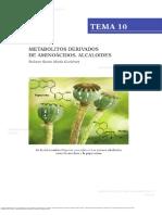 Alcaloides Quimica bioorganica Claramunt Vallespí, Rosa. M., Farrán Morales, M. de los Ángeles, and López García, Concepcíon. Química bioorgánica y productos naturales.