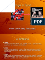 History of Drugs in Sport