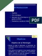 Definiciones Hidrologia - Parametros Cuenca