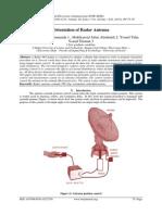 Orientation of Radar Antenna