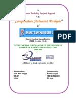 Comparative Statement Analysis of BSNL