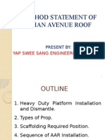 Method Statement of Asian Avenue Roof