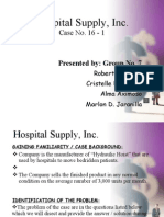 Hospital Supply, Inc Case 16-1