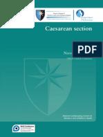 2011 NICE RCOG Caesarean Section Guidelines