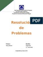 Resolucion de problemas matemticos